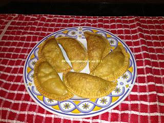 Empanadas de ricota, ajo porro y maíz