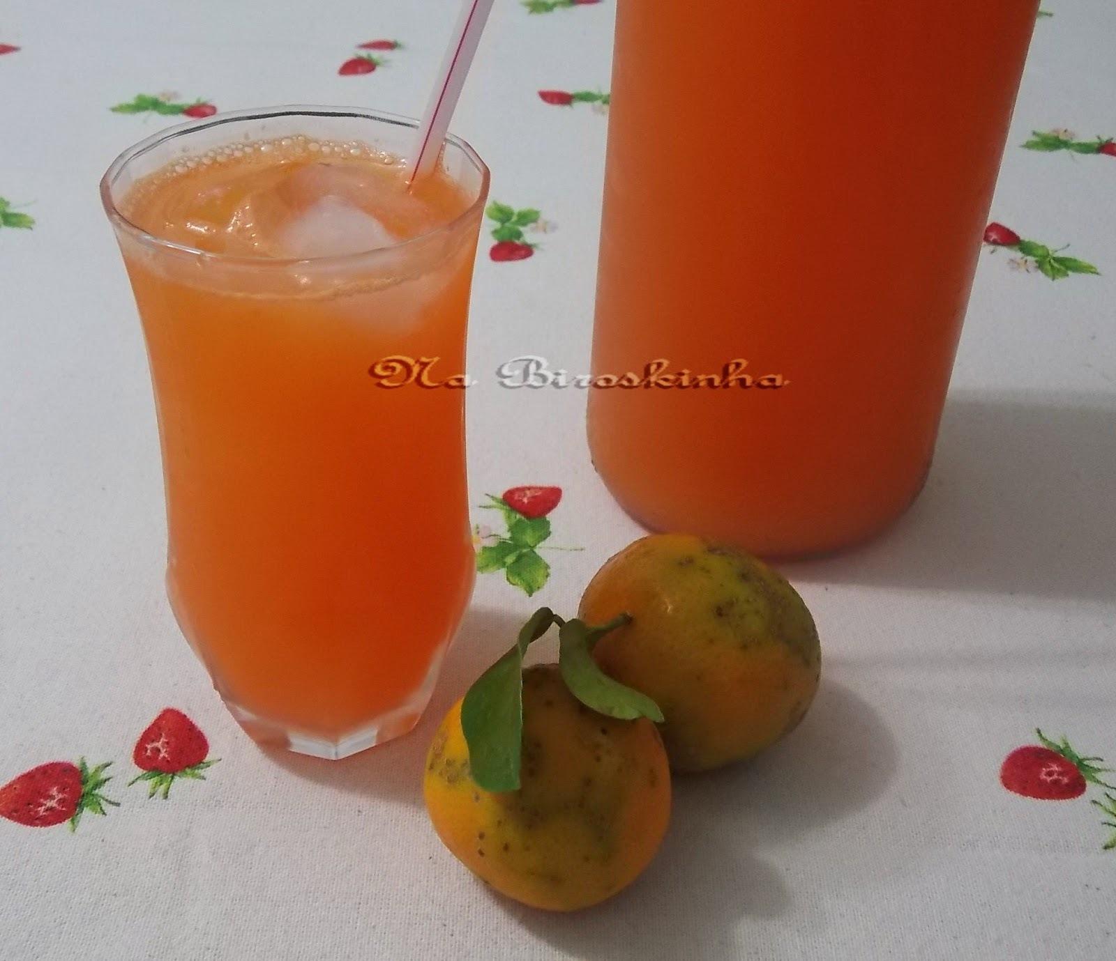 Refrigerante Caseiro de Cenoura, Laranja e Limão Cravo
