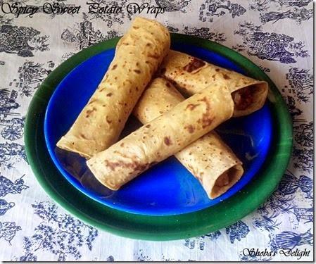 Spicy Sweet Potato Wraps