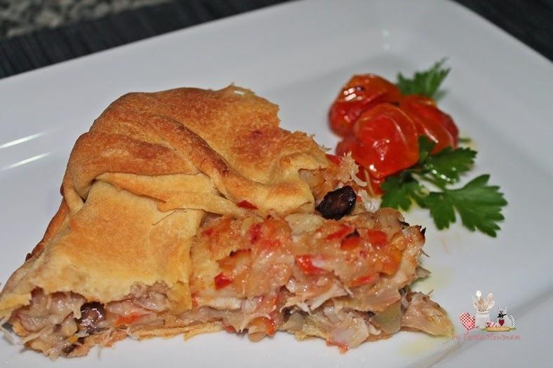 torta salgada de bacalhau com pão de forma