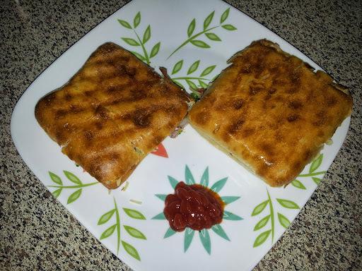 Ciabatta Veg Chesse Grill Sandwich