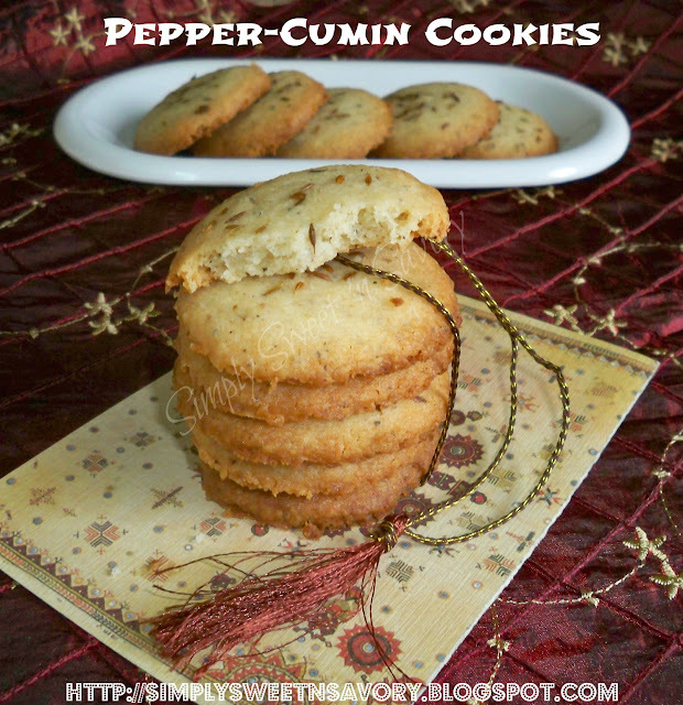 Pepper Cumin Cookies and Sunshine Award