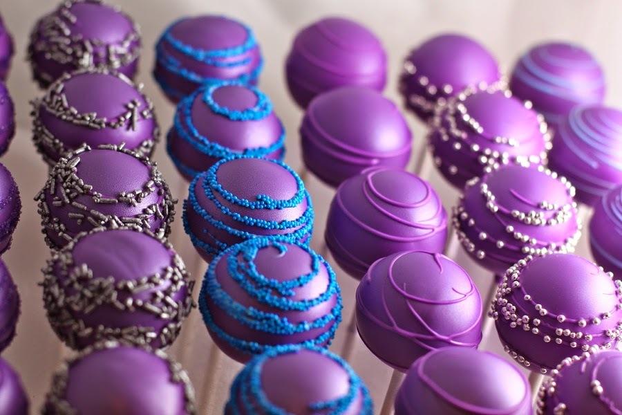 Receta Cake Balls Morados