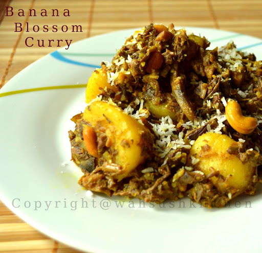 Banana Blossom and potato curry