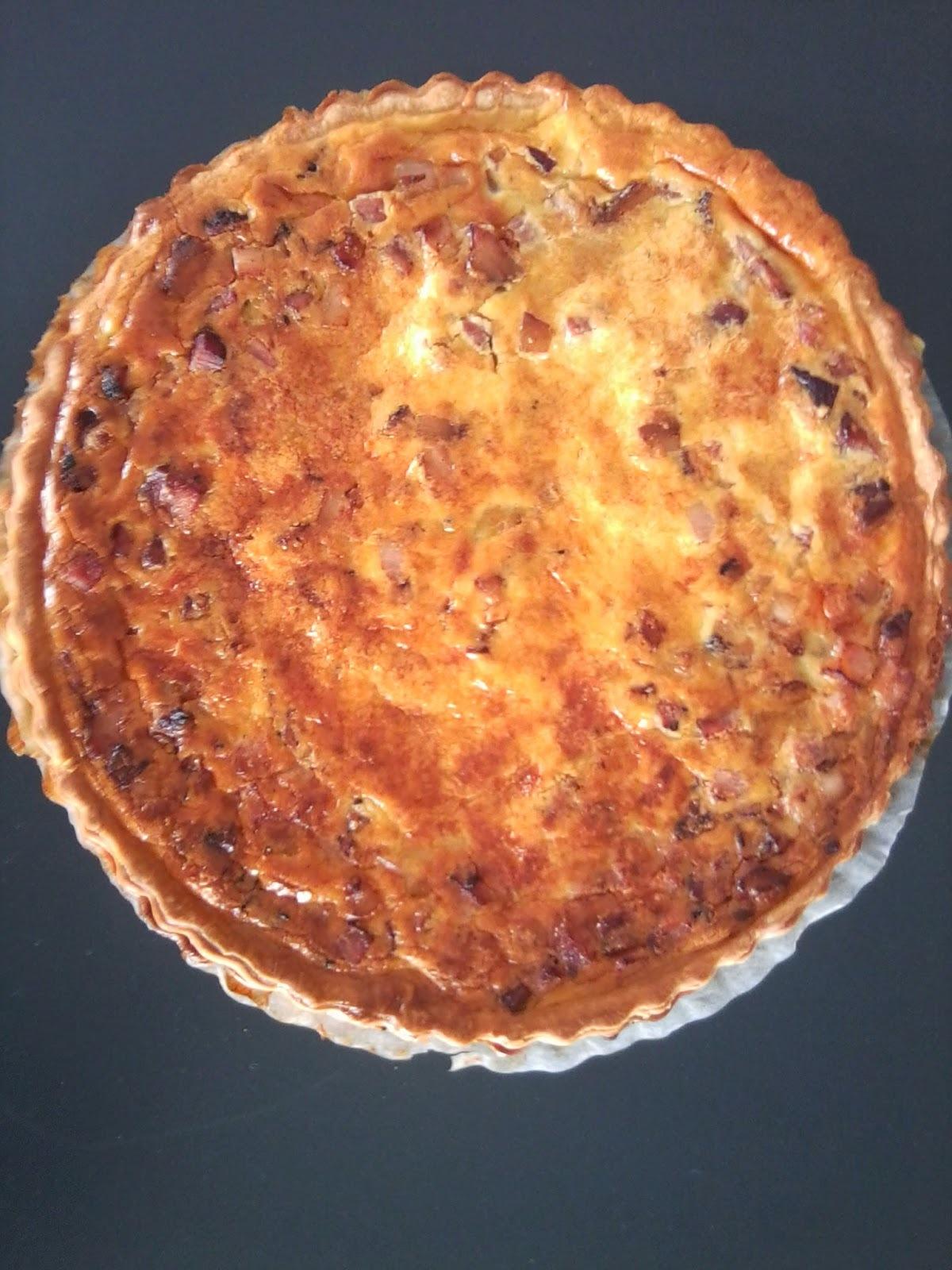 Lotrinský slaninový koláč - quiche lorraine