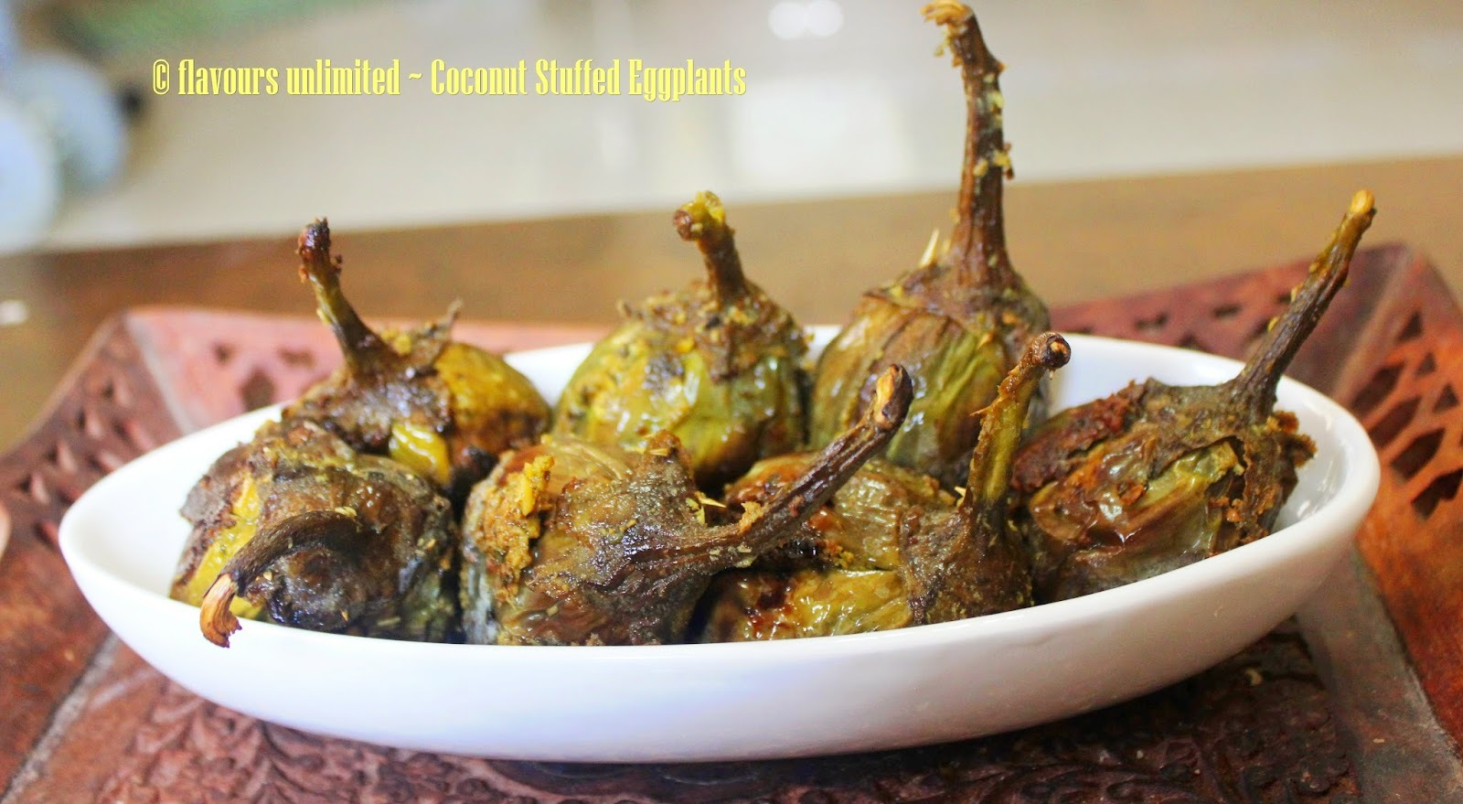 Eggplants Stuffed with Coconut n Pickling Spices