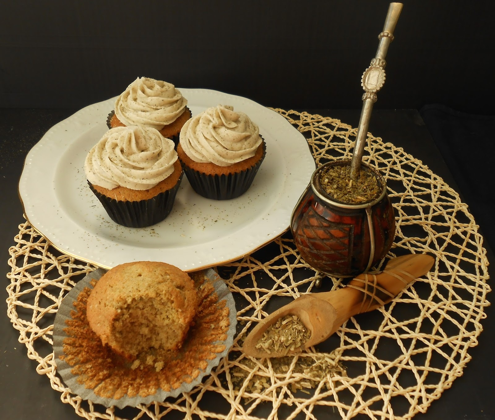 Cupcakes de Yerba Mate
