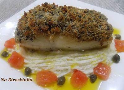Bacalhau Riberalves com Crosta de Azeitonas Pretas
