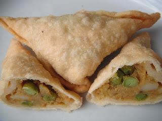 samosa - gluten free and vegan