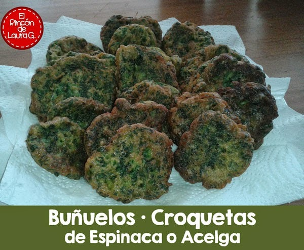 Receta de Buñuelos o Croquetas de Espinaca