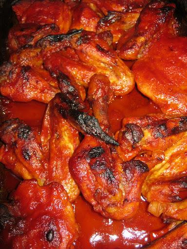 Chilis paradicsomszószban sült csirke