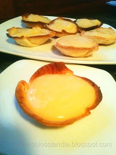 Tartaletas de crema de limón ,  receta casera