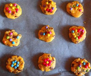 A kids best friend = Chocolate Chunk Cookies + Smarties