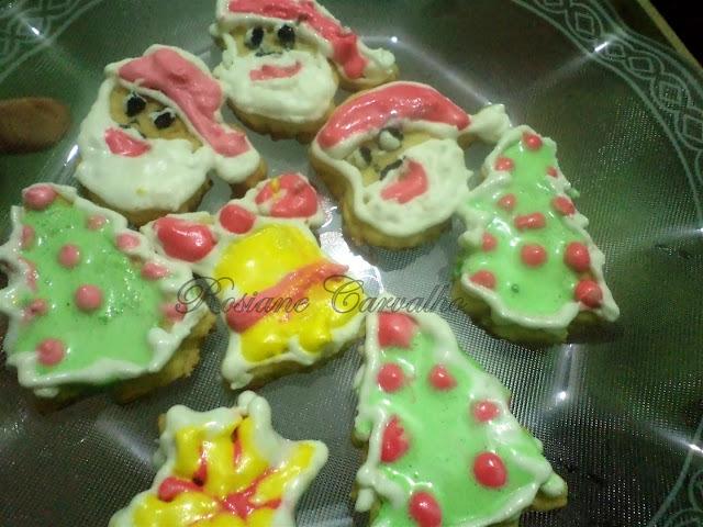 de biscoitos decorados para o natal