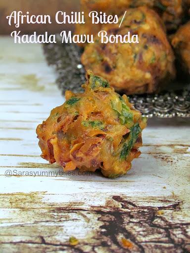 African Chilli Bites/ Bhaji / Kadala Mavu Bonda / Tea Kadai Bonda