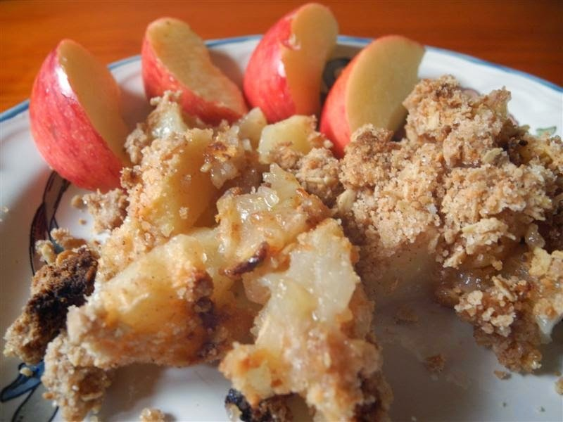 Apple crumble de tres manzanas
