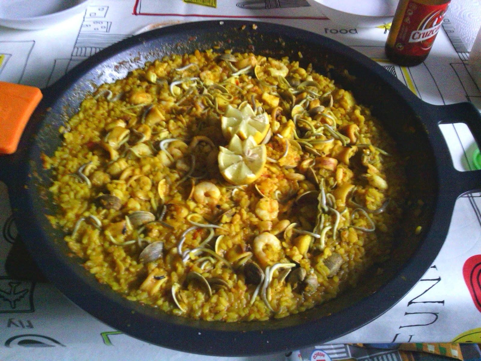 """Paella de pescado y marisco """"playera"""" - Por Nuria H. C."""