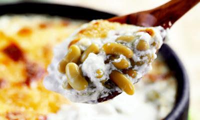 Feijão verde com queijo
