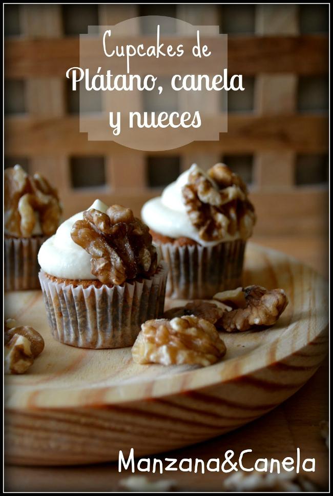 Minicupcakes de plátano, canela y nueces