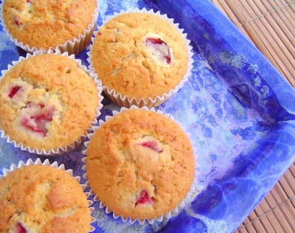 Muffins de Fresas con Yogur