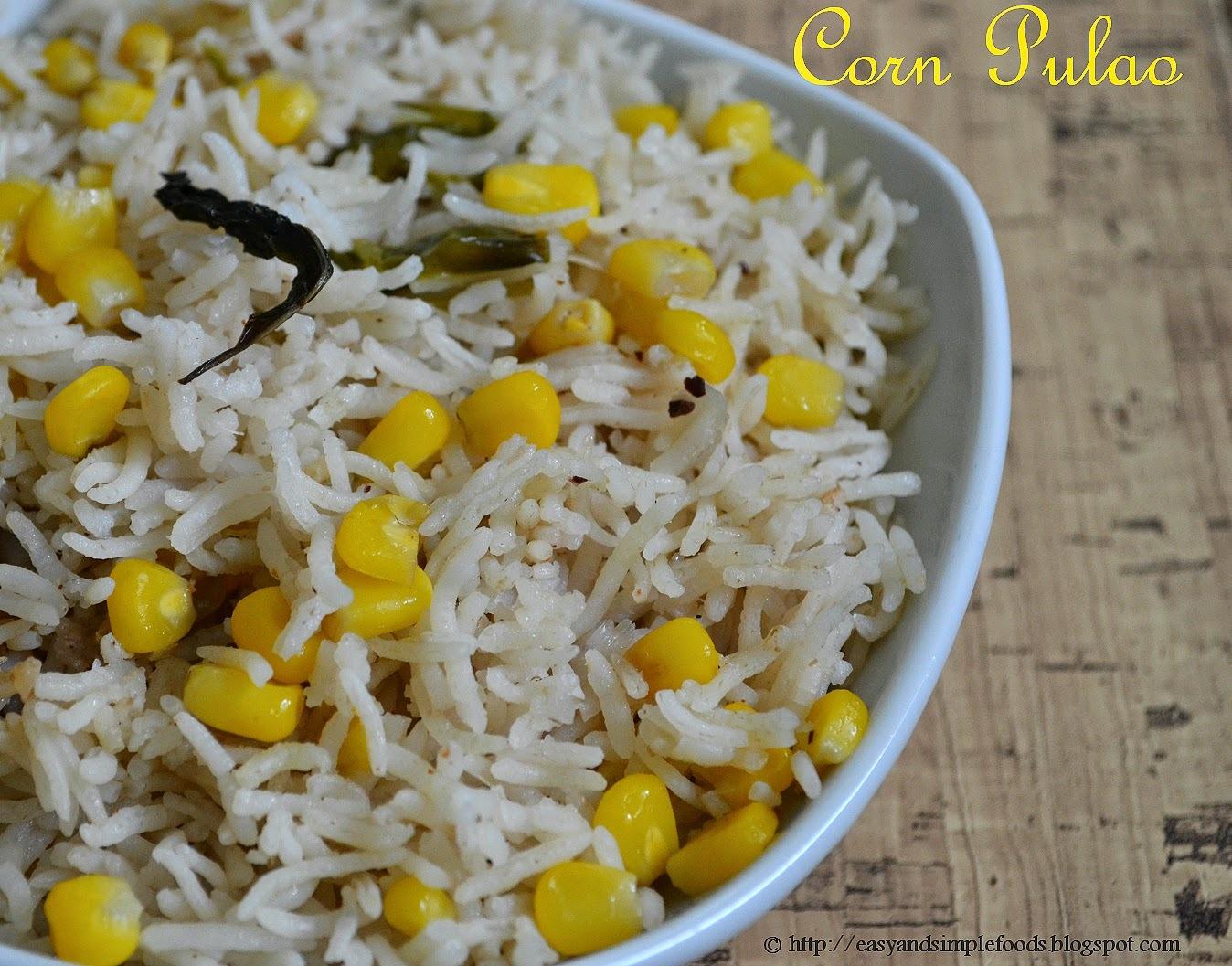 Corn Pulao / Sweet Corn Pulao