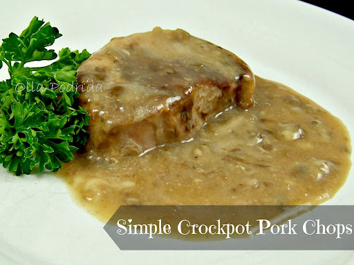 Simple Crockpot Pork Chops