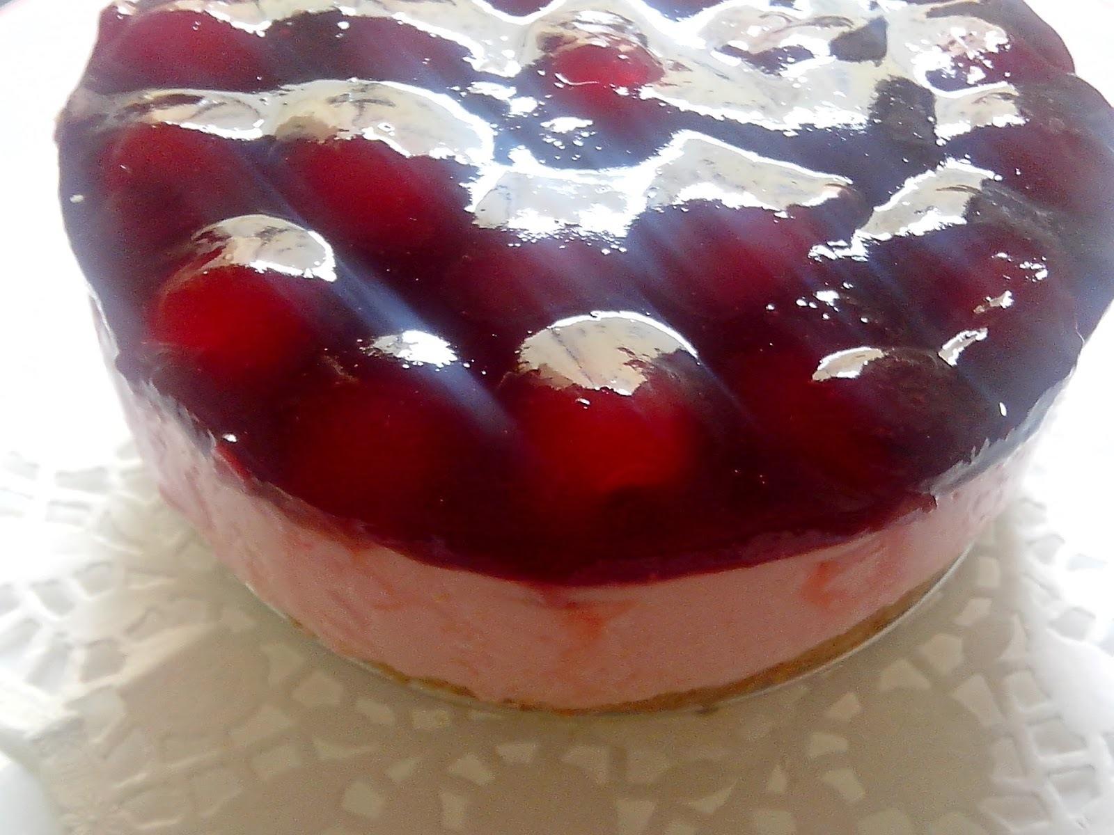 Tarta de Queso con Cerezas