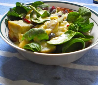 Roast vegetable salad with Pesto White Sauce