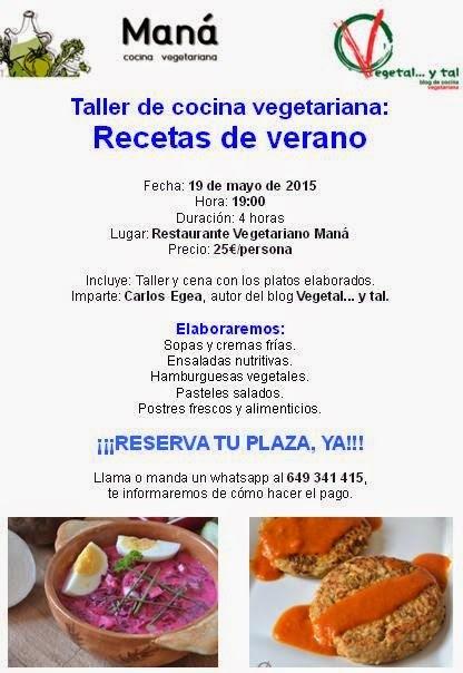 Taller de recetas vegetarianas de verano en Maná