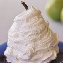 Pears in meringue