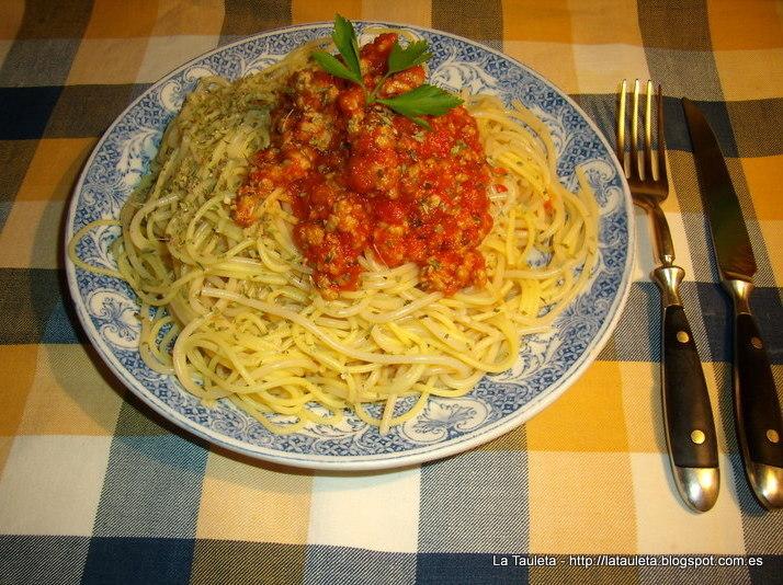 Spaghetti alla Bolognese - Espagueti a la Boloñesa