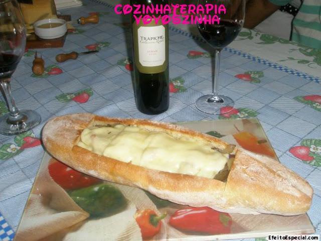 Pão Italiano com antepasto de berinjelas
