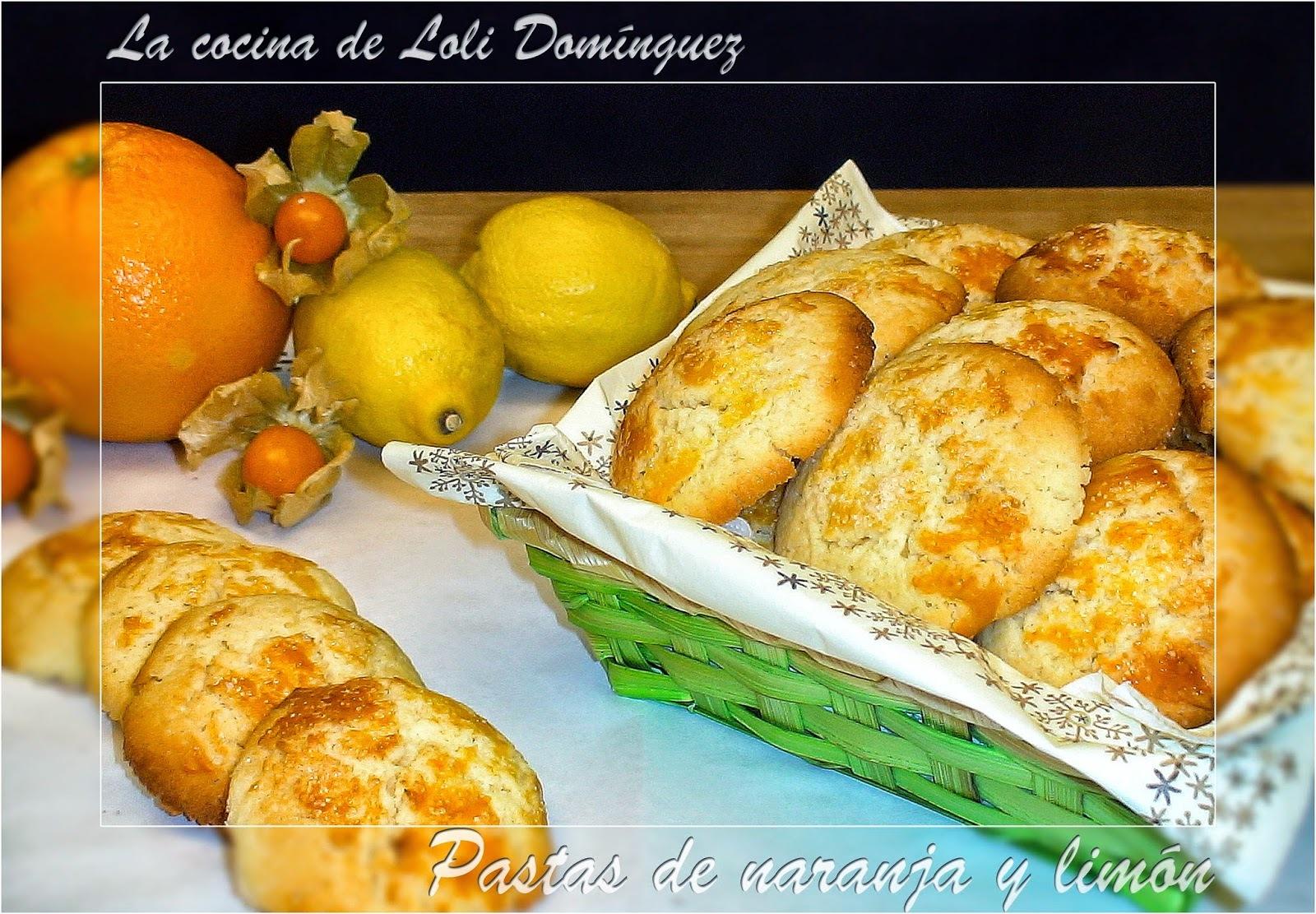 Pastas de naranja y limón