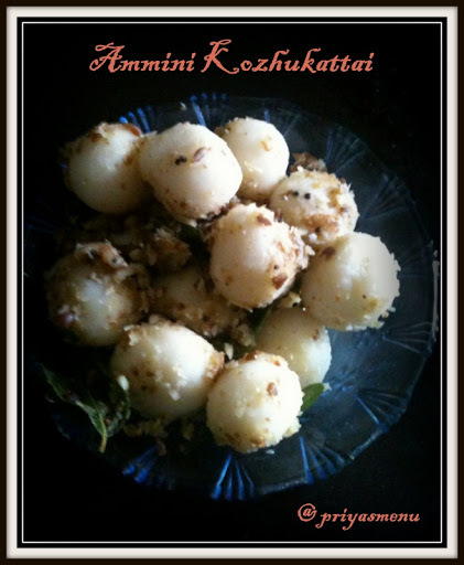 Ammini Kozhukattai Using Black Chickpeas - Ganesh Chathurthy Recipes