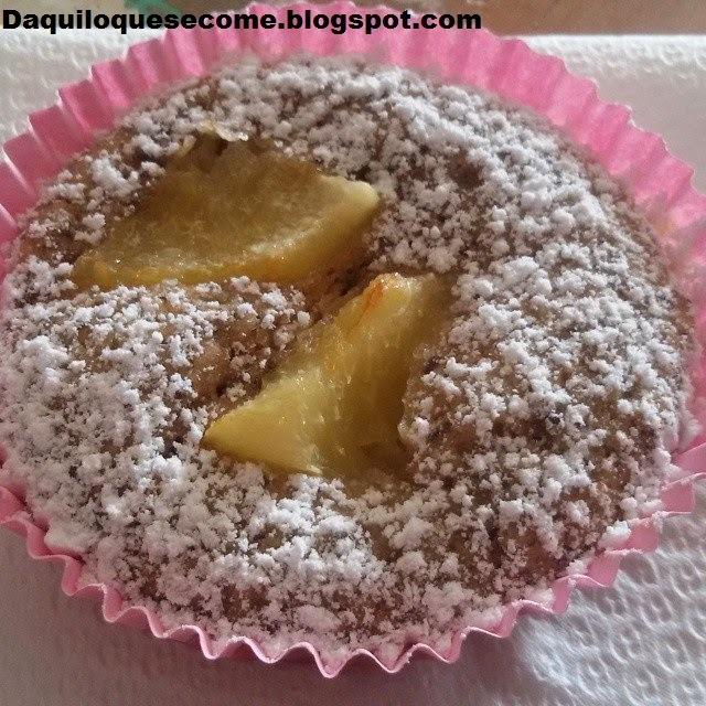 Muffins marronzinho de pêssego!