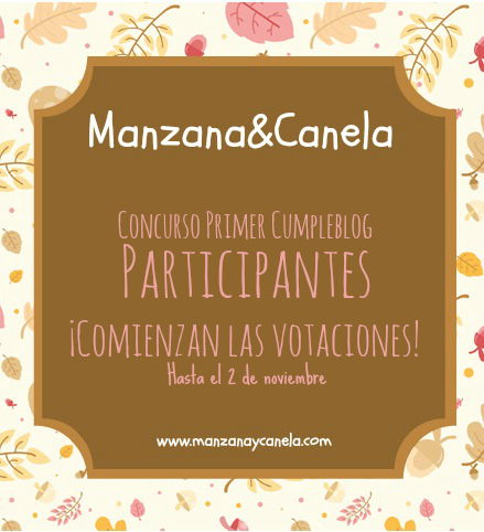 Participantes en el Concurso Primer Cumpleblog. ¡Y se abre el plazo para las votaciones!