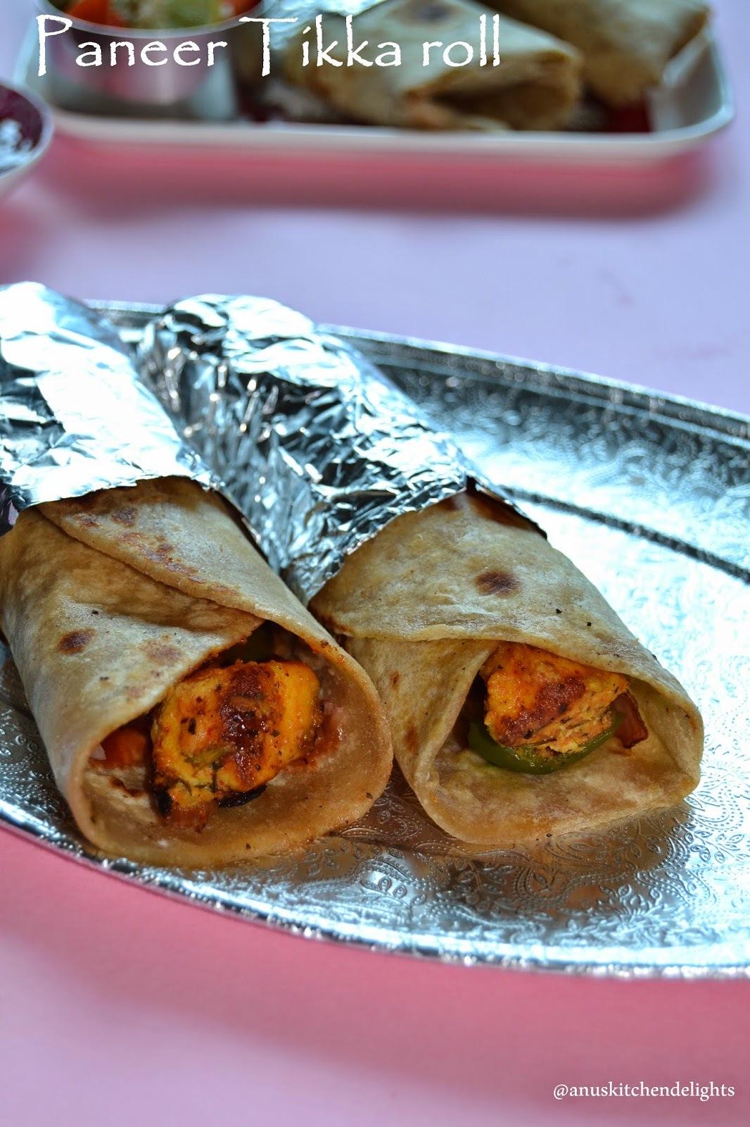 Kathi Roll Recipe  - Aloo Kathi and Paneer Tikka Kathi Roll