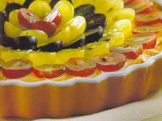 Torta de uvas e creme de confeiteiro