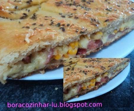 Pão Recheado sabor pizza