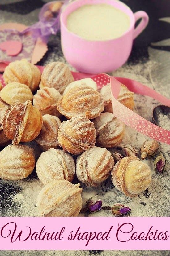 Recipe - Walnut shaped cookies filled with walnut cream