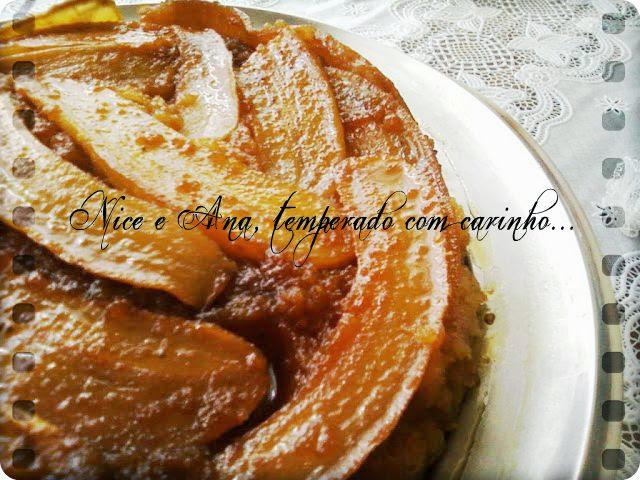 Torta Caramelada de Banana e Laranja