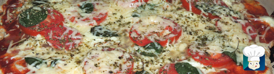Pizza integral de marguerita