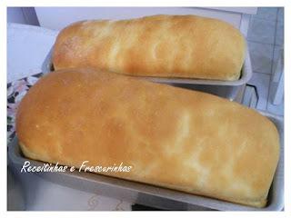 pão caseiro assado no microondas