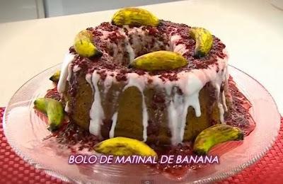 Faça bolo matinal de banana