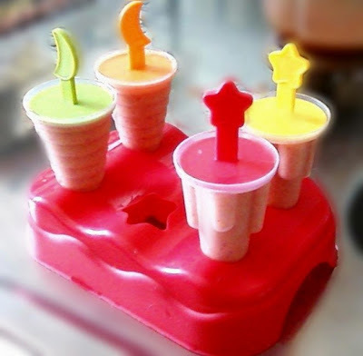 Picolé de smoothie de frutas