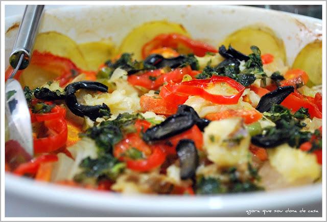 salada para acompanhar bacalhoada