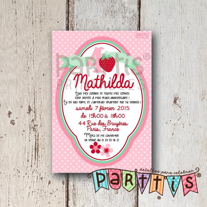 La hermosísima fiesta de fresas de Mathilda