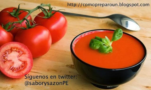 COMO PREPARO UN GAZPACHO - Receta - Recipes