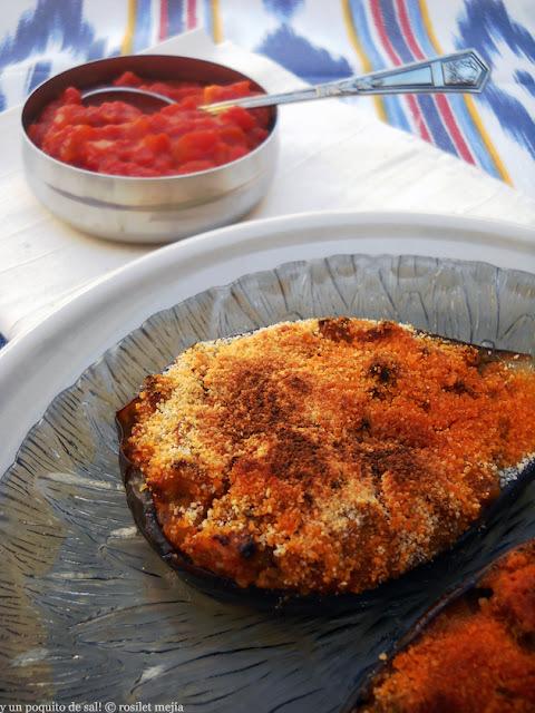 [mostra de cuina balear] las berenjenas rellenas de Mallorca