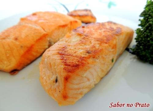 como fazer filé salmão frito no azeite